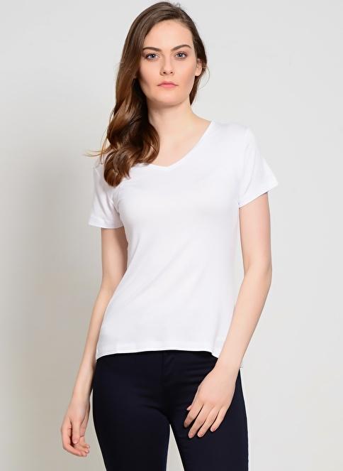 Limon Company V Yaka Tişört Beyaz